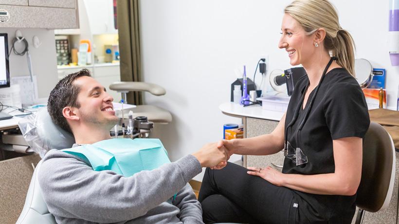 Dr. Lindsey Jaros Welcomes Patient
